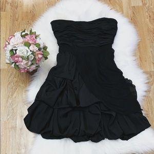 Strapless Black Dress by BEBE sz S